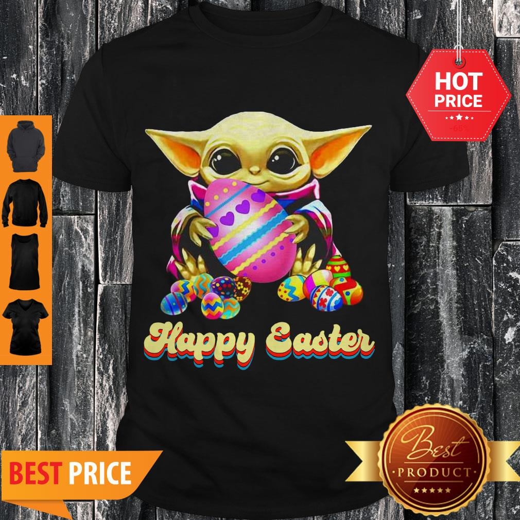 Lovely Happy Easter Baby Yoda Hug Easter Egg Shirt
