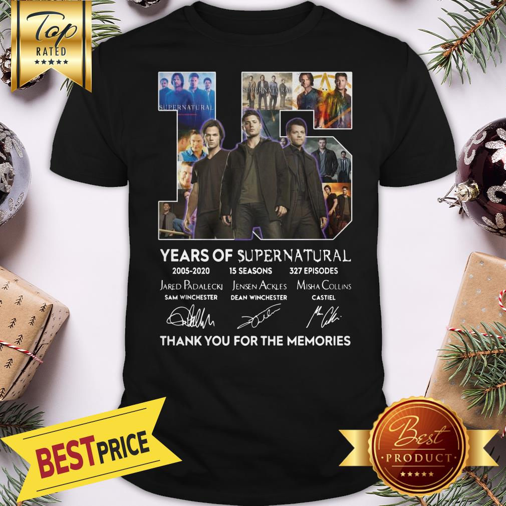 Official 15 Years Of Supernatural Thank You For The Memories Shirt