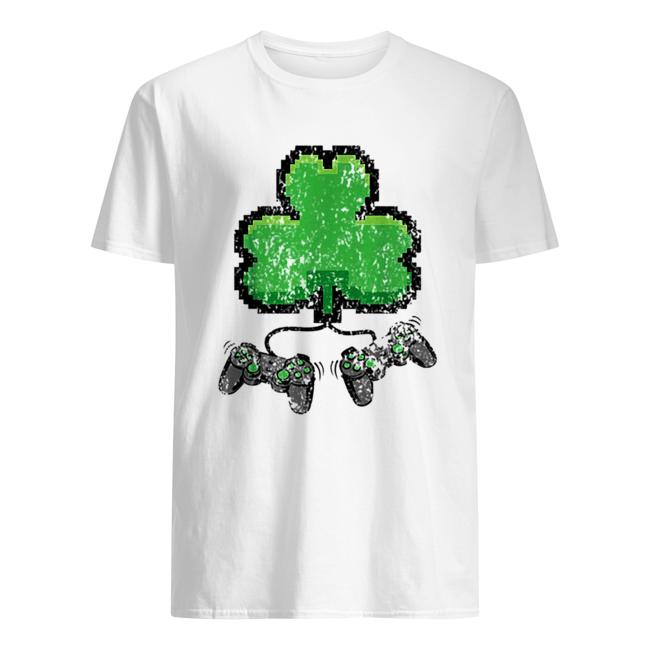 Original 8 Bit Clover Gaming St Patrick's Day  Classic Men's T-shirt