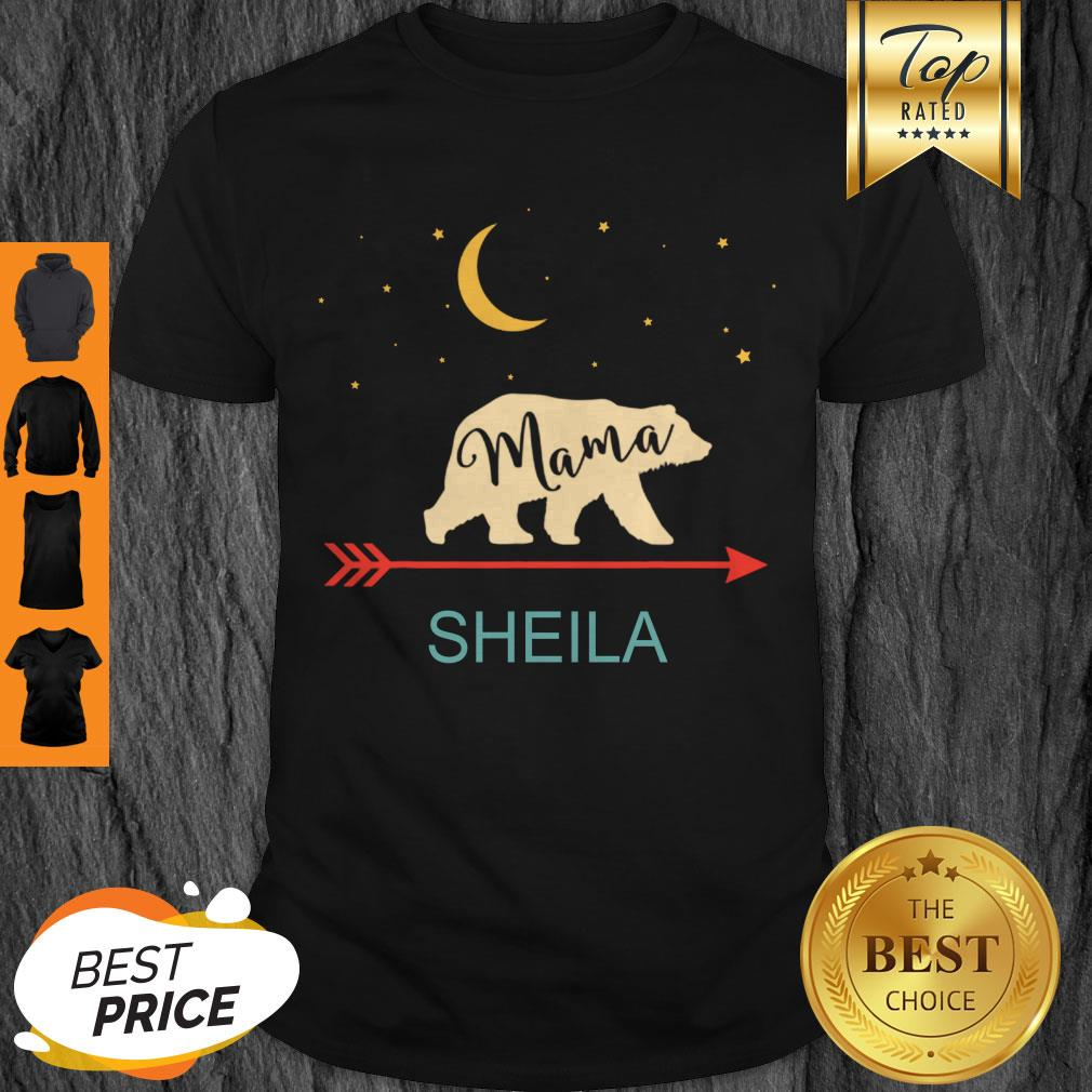 Original Sheila Name Gift Personalized Retro Mama Bear Shirt