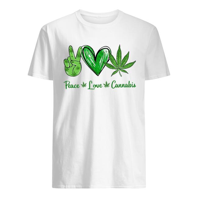 Peace Love Cannabis  Classic Men's T-shirt