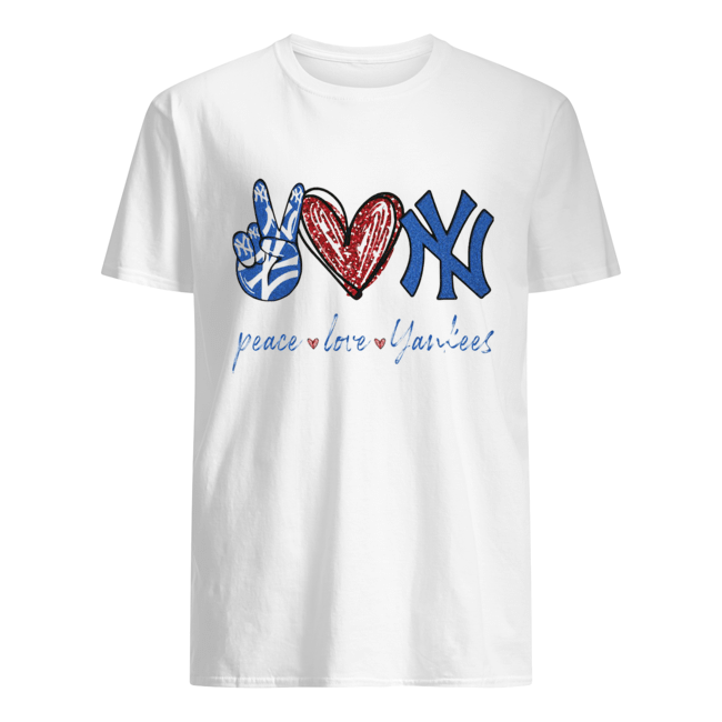 Peace love New York Yankees  Classic Men's T-shirt