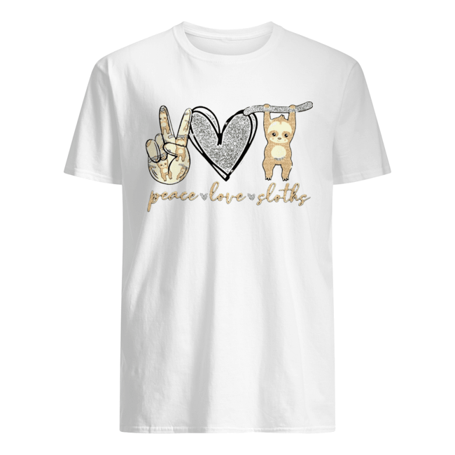Peace Love Sloths  Classic Men's T-shirt