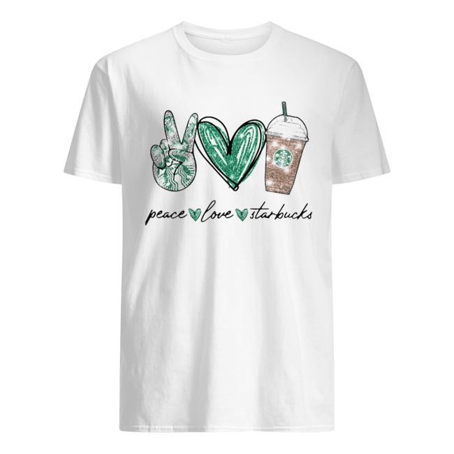 Peace Love Starbucks  Classic Men's T-shirt