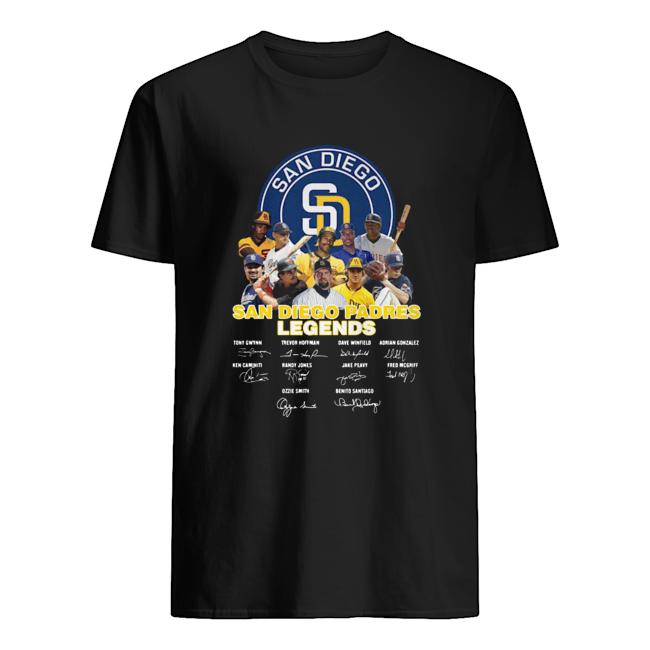 San Diego Padres Legends Signature  Classic Men's T-shirt