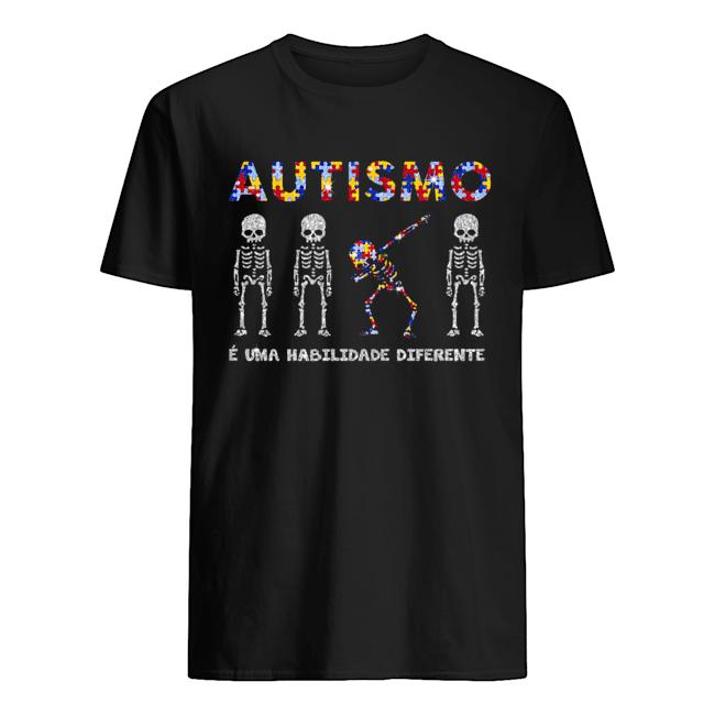Skeleton Diamond Autismo E Uma Habilidade Diferente  Classic Men's T-shirt