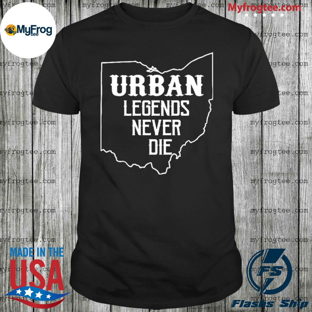 Urban legends never die ohio oh state map design 2020 shirt