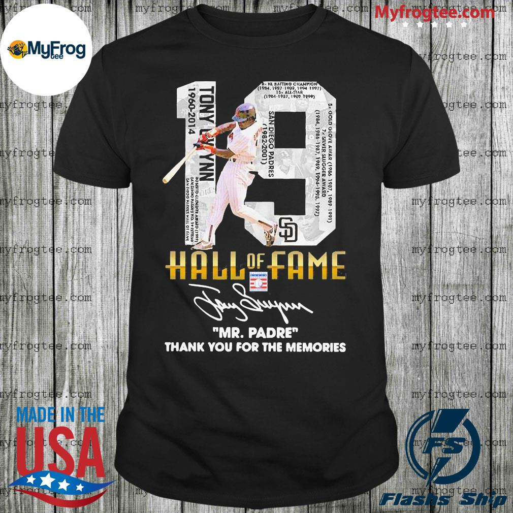 19 hall of fame mr.padre thank you for the memories signature shirt