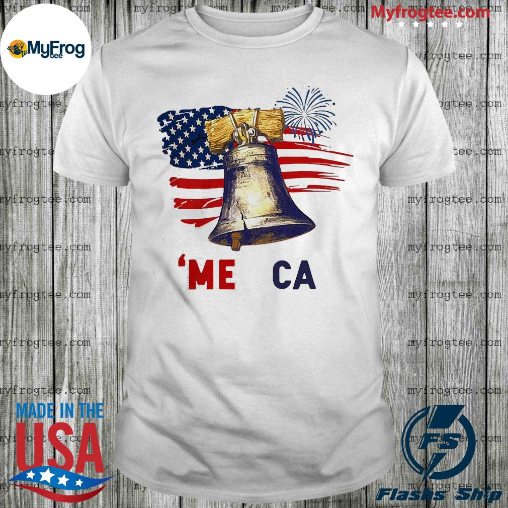 Liberty bell america 4th of july american flag shirt