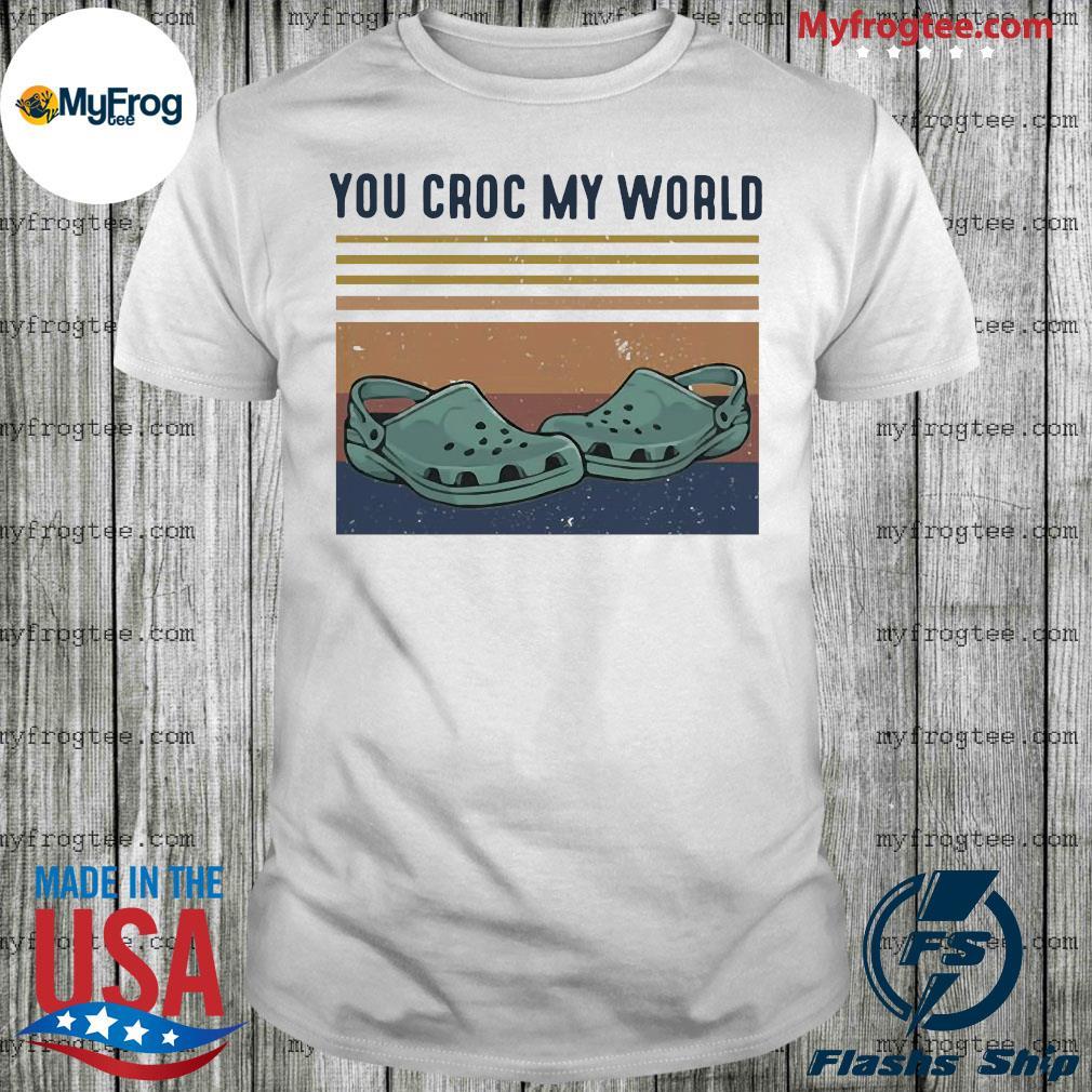 You croc my world vintage shirt