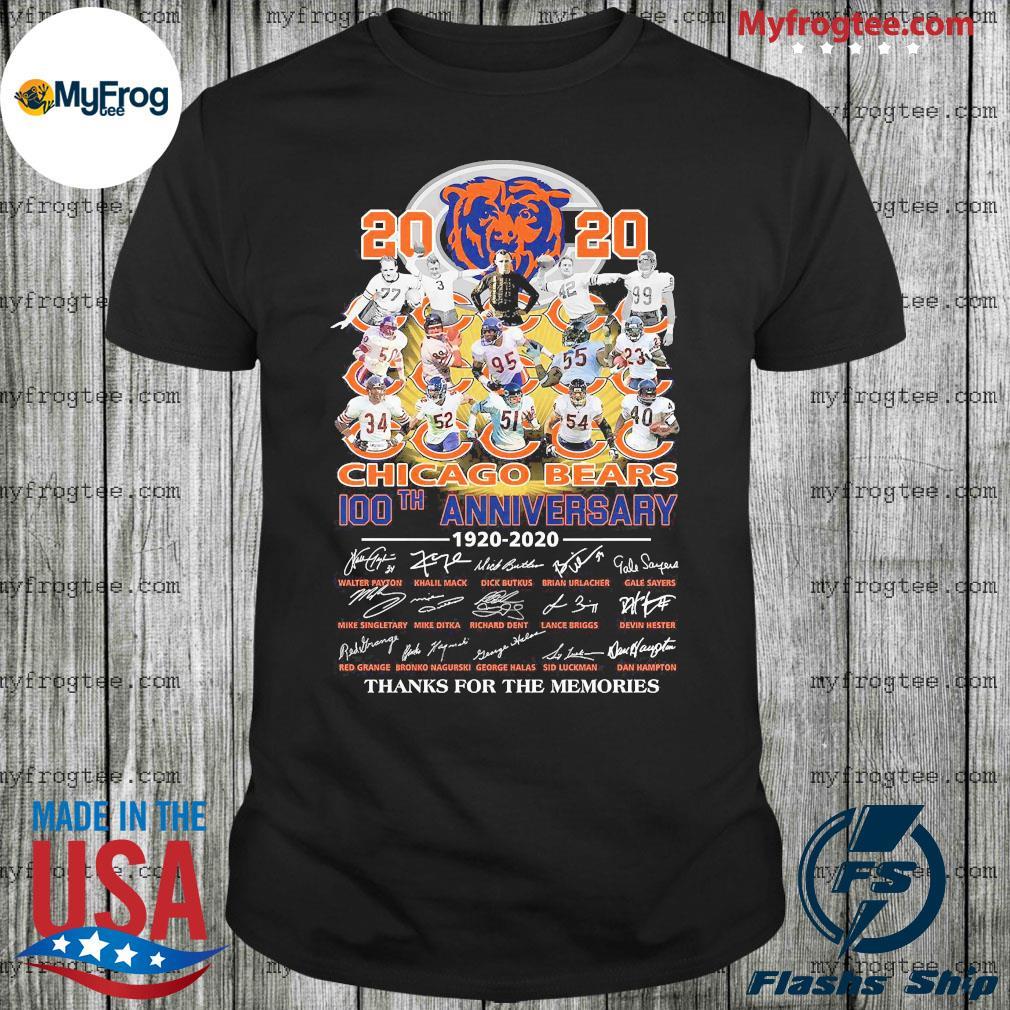 2020 Chicago Bears 100th anniversary 1920 2020 signature shirt
