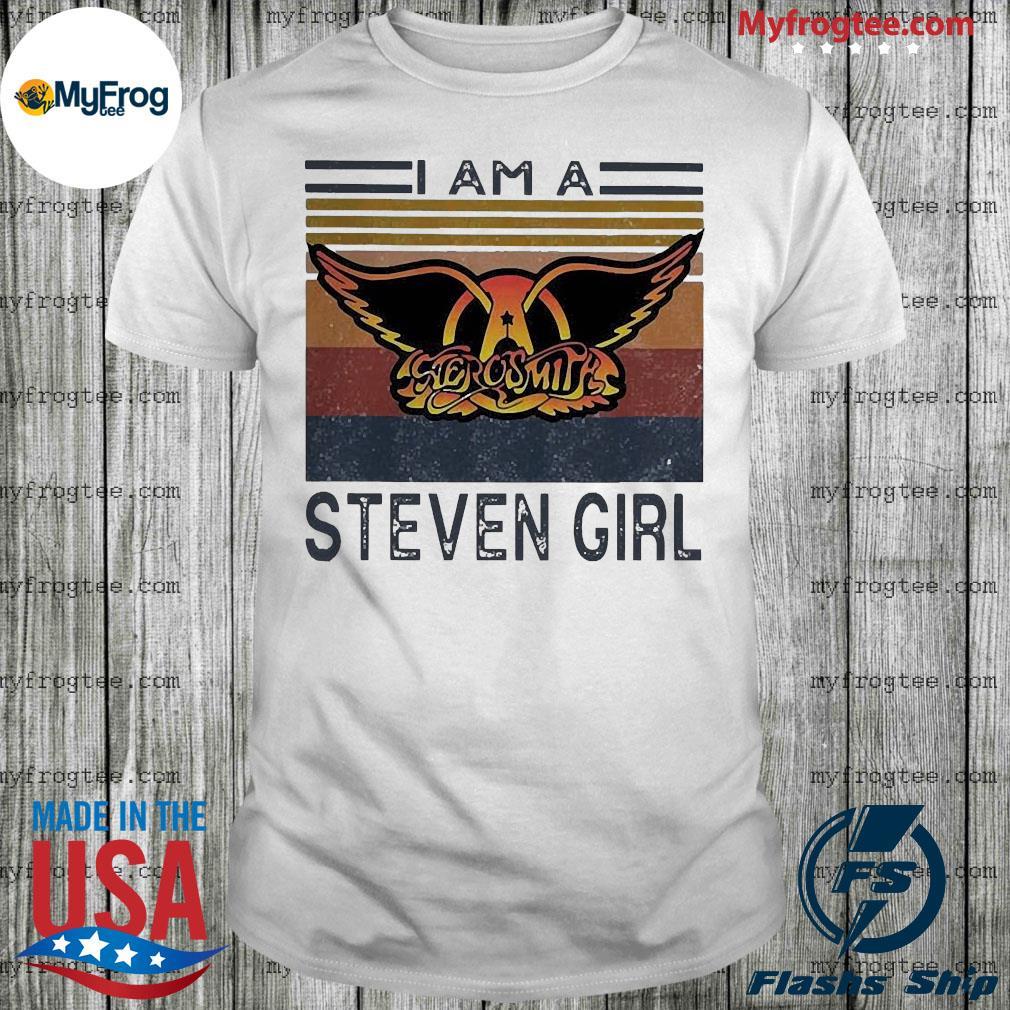 Aerosmith I am a steven girl vintage retro shirt