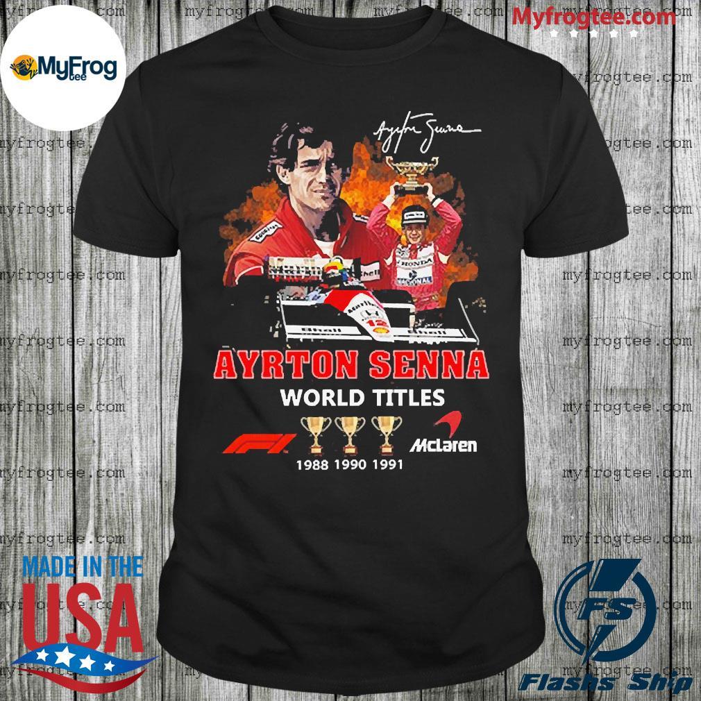 Ayrton Senna Signature World Titles Shirt