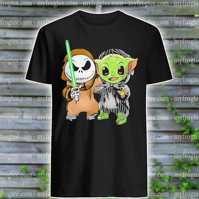 Baby Jack Skellington and Baby Yoda shirt