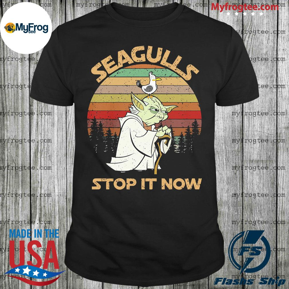 Baby Yoda seagulls stop it now vintage shirt