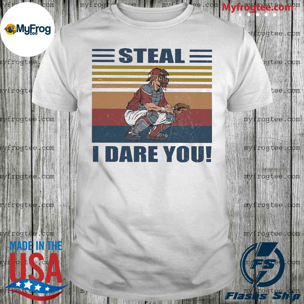 Baseball Steal i dare you vintage shirt