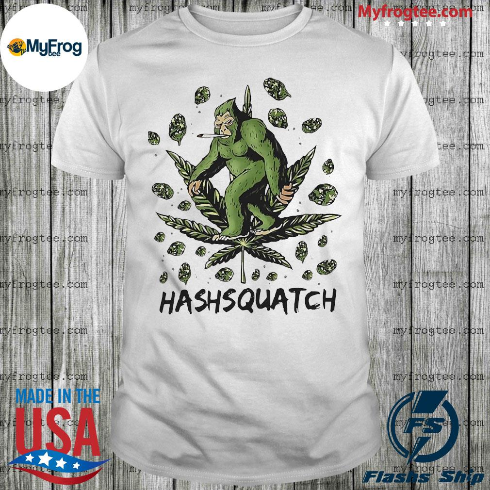 Big food smoking weed sasquatch shirt