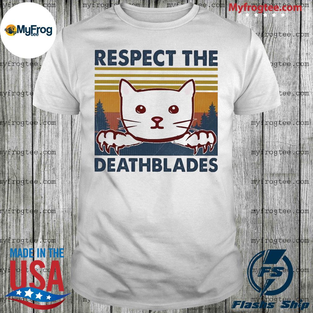 Cat Respect the death blades vintage shirt