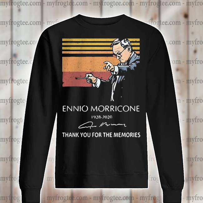 Ennio Morricone 1928 2020 signature thank you for the memories s sweater