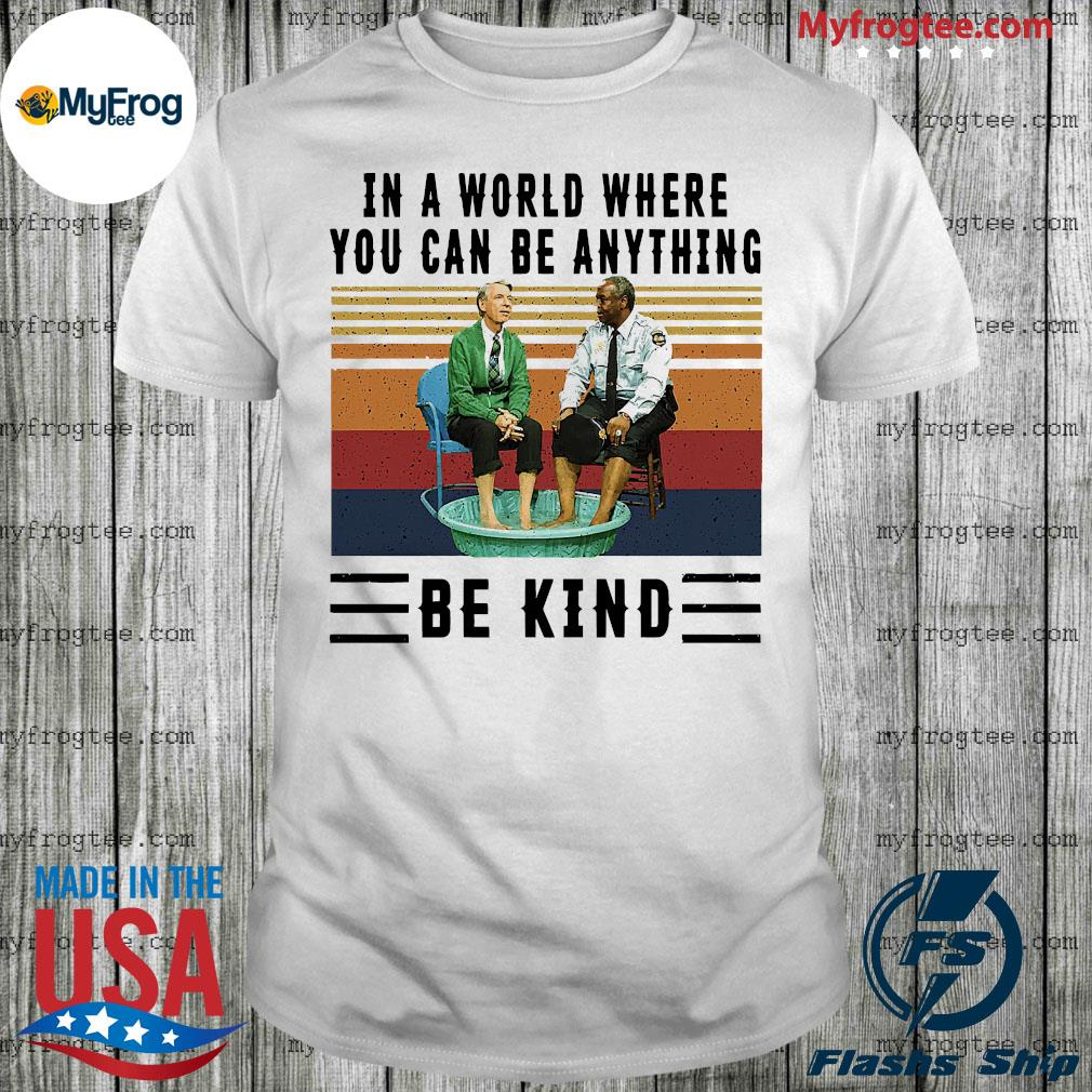 In a world where you can be anything be kind kiddie pool and mr. rogers shirt