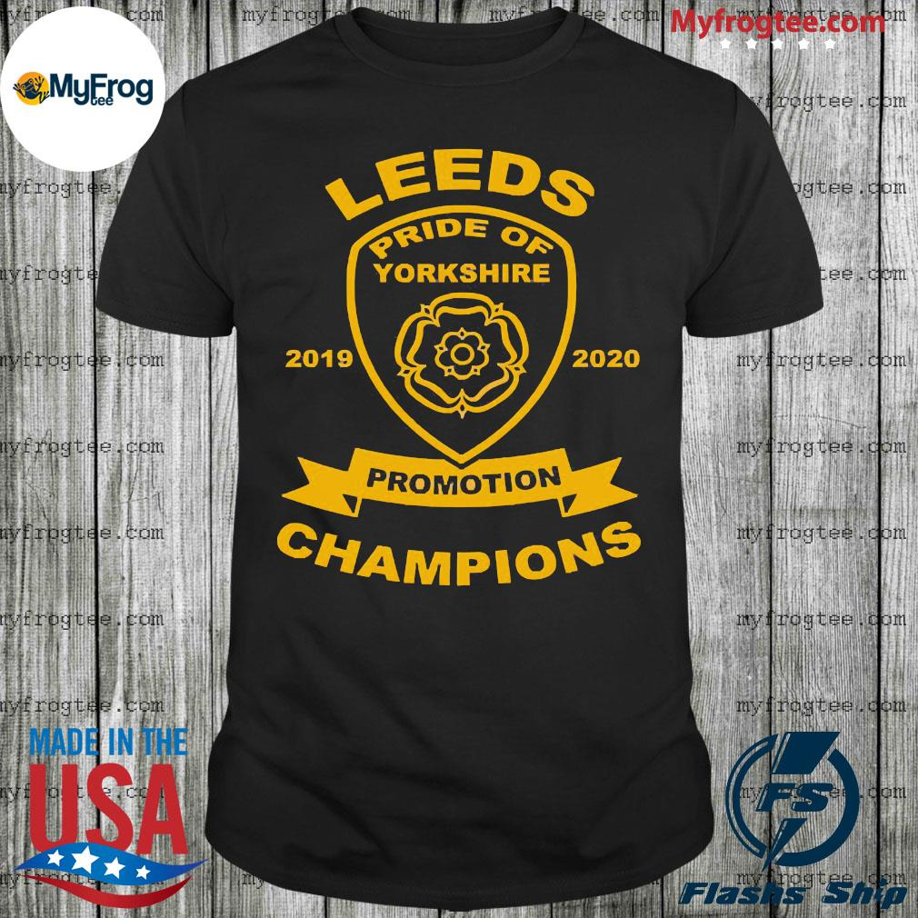 Leeds pride of yorkshire 2019 2020 promotion Champions shirt