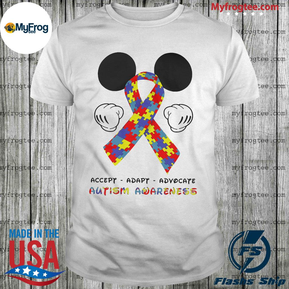 LGBT Mickey Mouse accept adapt advocate autism awareness shirt