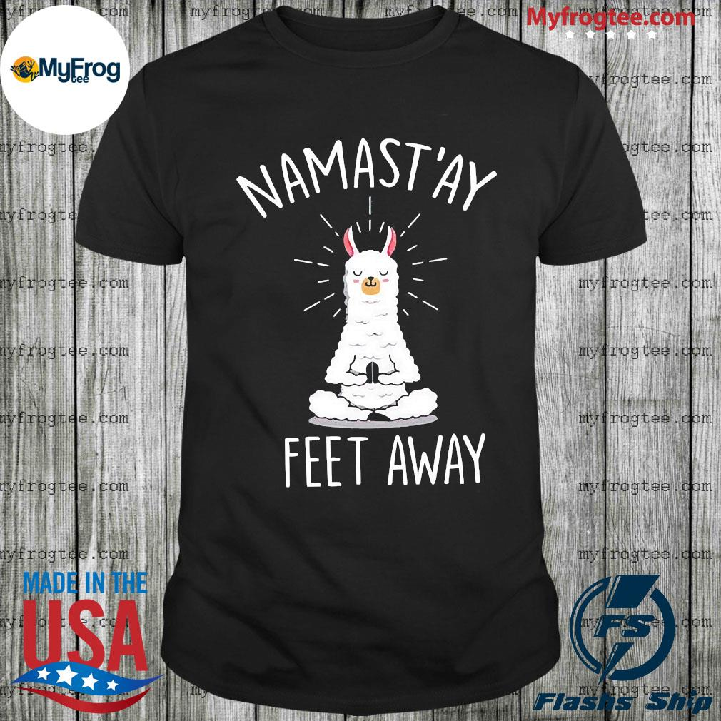 Namast'ay yoga tee women short sleeve funny shirts social distancing tshirt 6 feet away shirt
