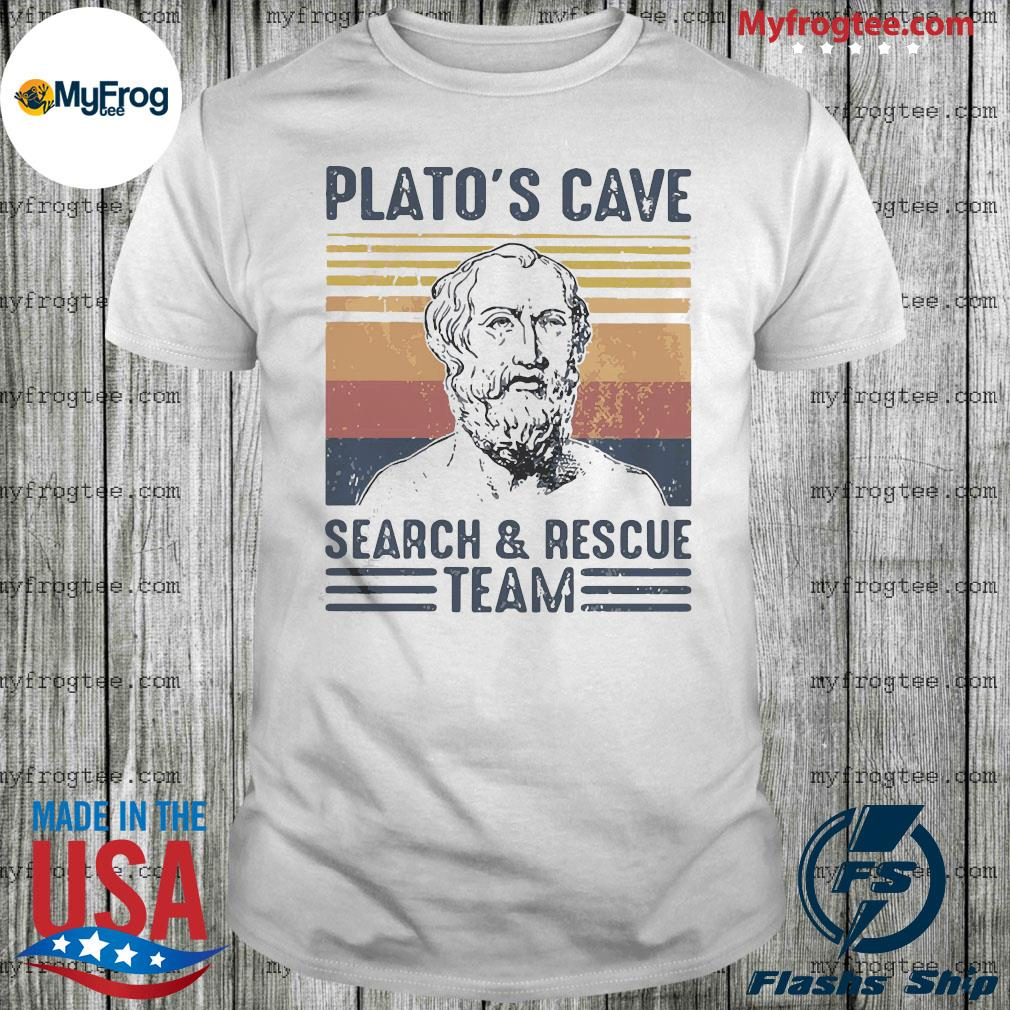 Plato's cave search and rescue team vintage shirt