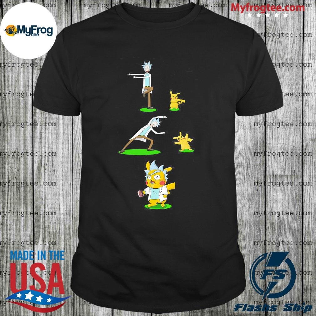 Rick Sanchez and Pikachu fusion dancing shirt