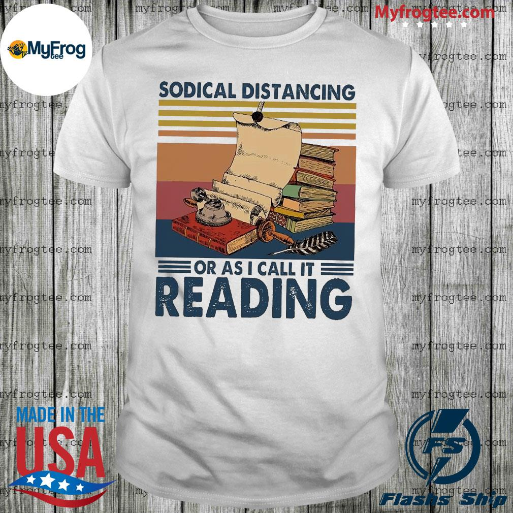 Sodial distancing or as I call it Reading vintage shirt