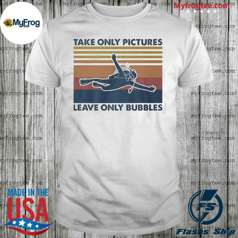 Take only pictures leave only bubbles vintage shirt