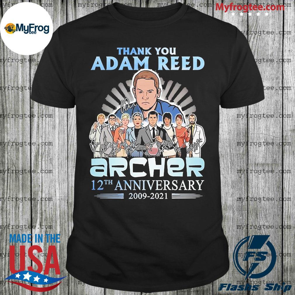 Thank you adam reed archer 12th anniversary 2009 2021 shirt