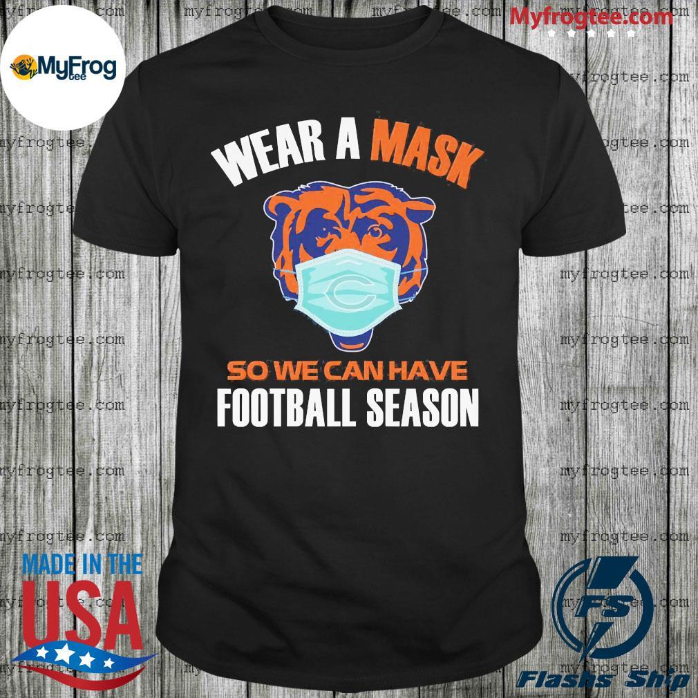 Tiger face mask wear a mask so we can have football season shirt