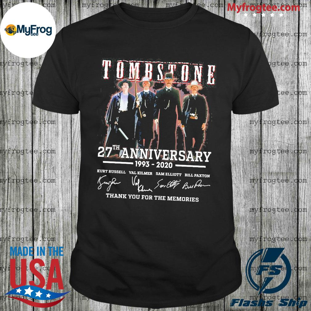 Tombstone 27th anniversary 1993 2020 signature shirt