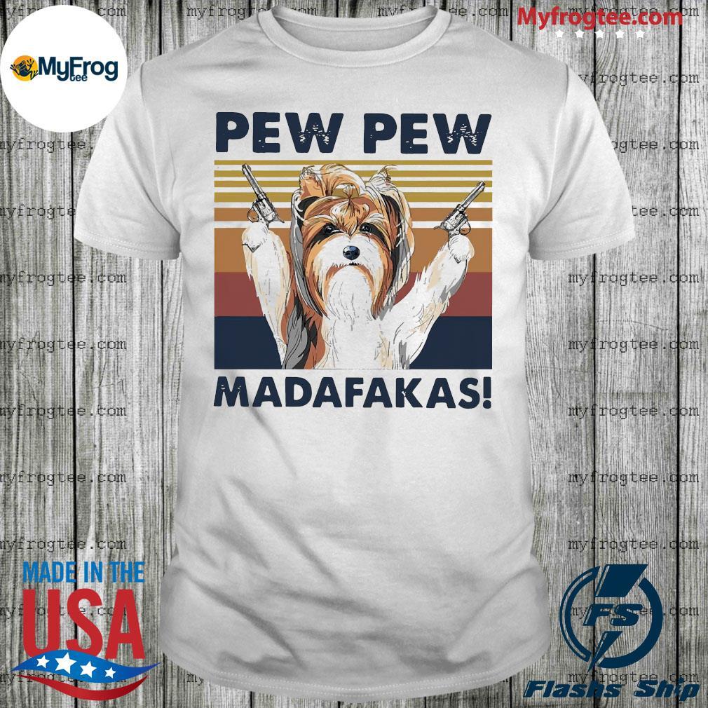 Tzu dog breed pew pew madafakas vintage shirt