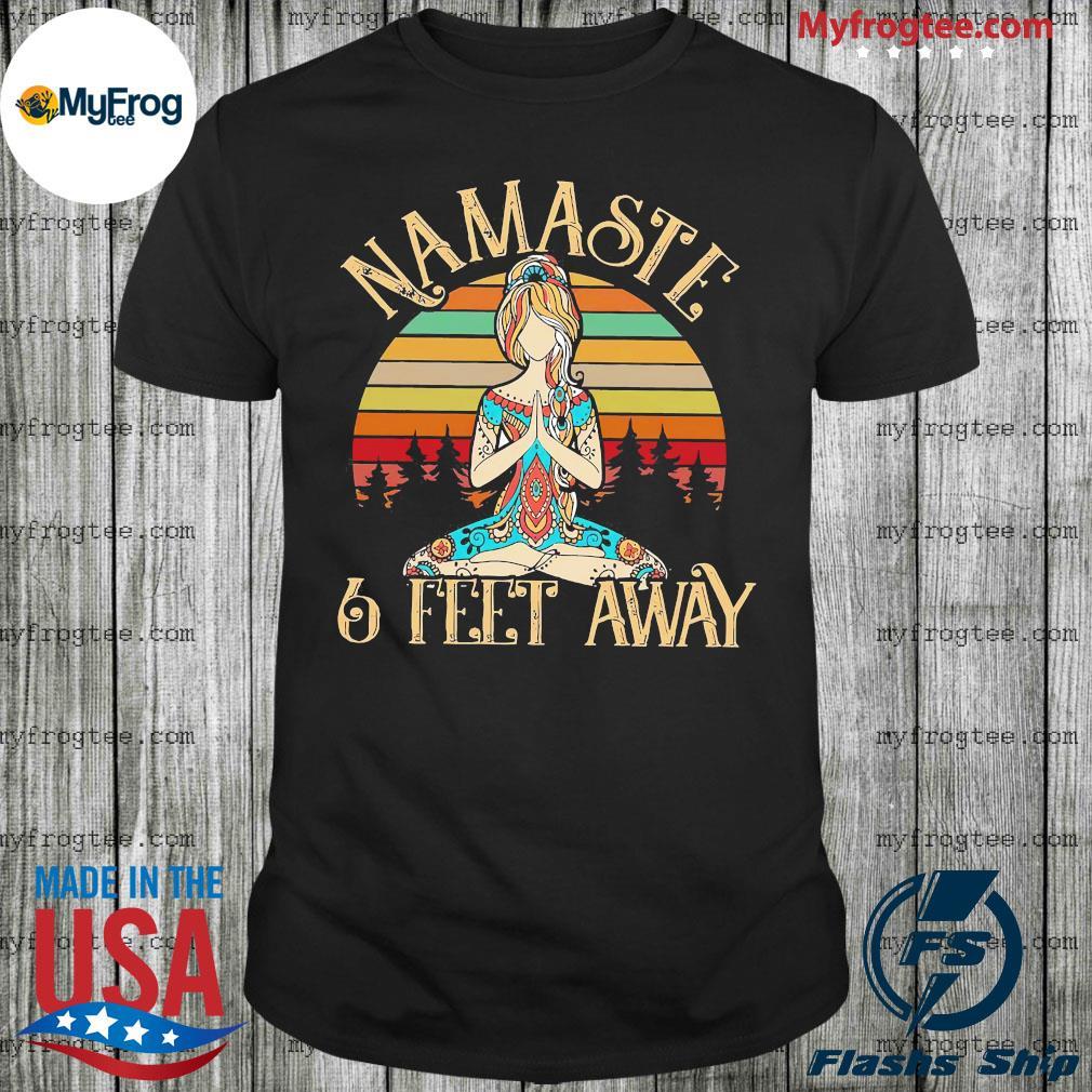 Yoga Girl Namaste 6 feet away vintage shirt