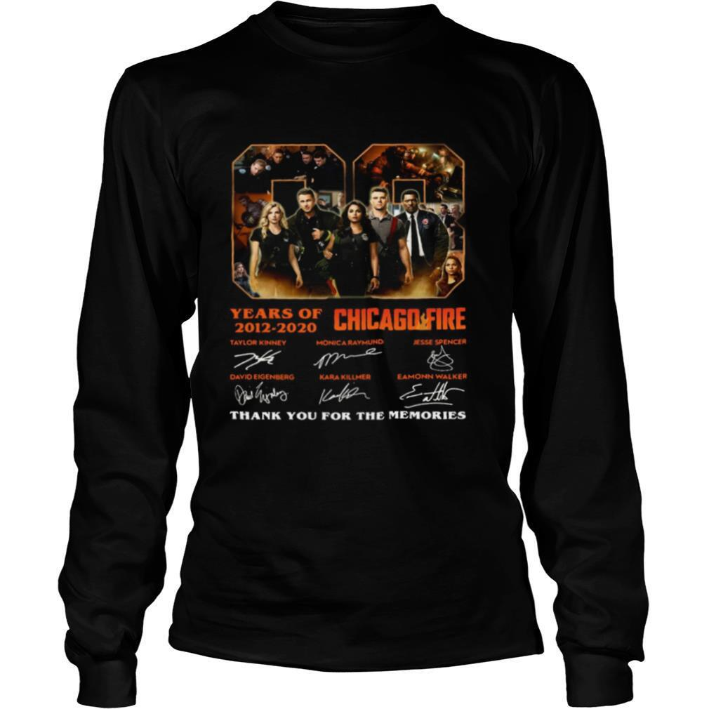 08 Years Of 2012 2020 Chicago Fire Thank You For The Memories Signatures shirt
