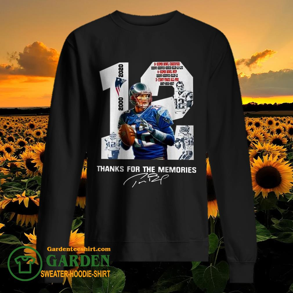 12 Tom Brady thank you for the memories 2000 2020 new England Patriots sweater