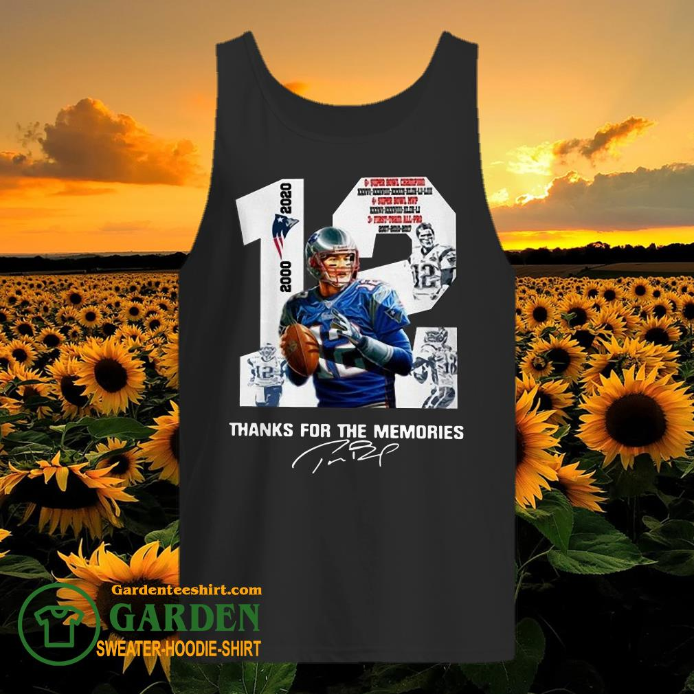 12 Tom Brady thank you for the memories 2000 2020 new England Patriots tank top