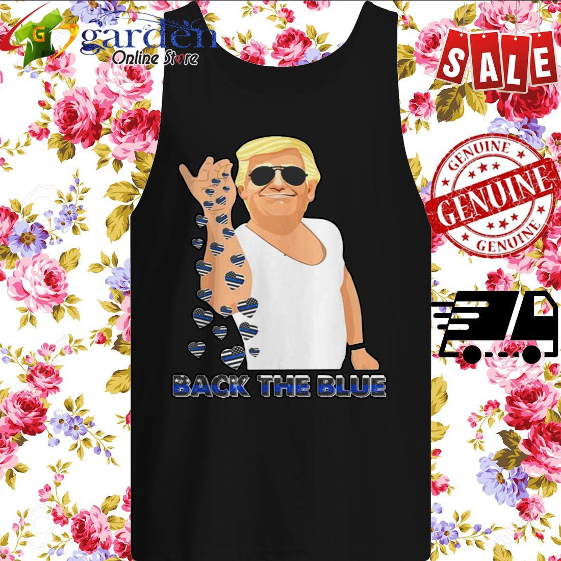 2020 Donald Trump Salt Back The Blue tank top