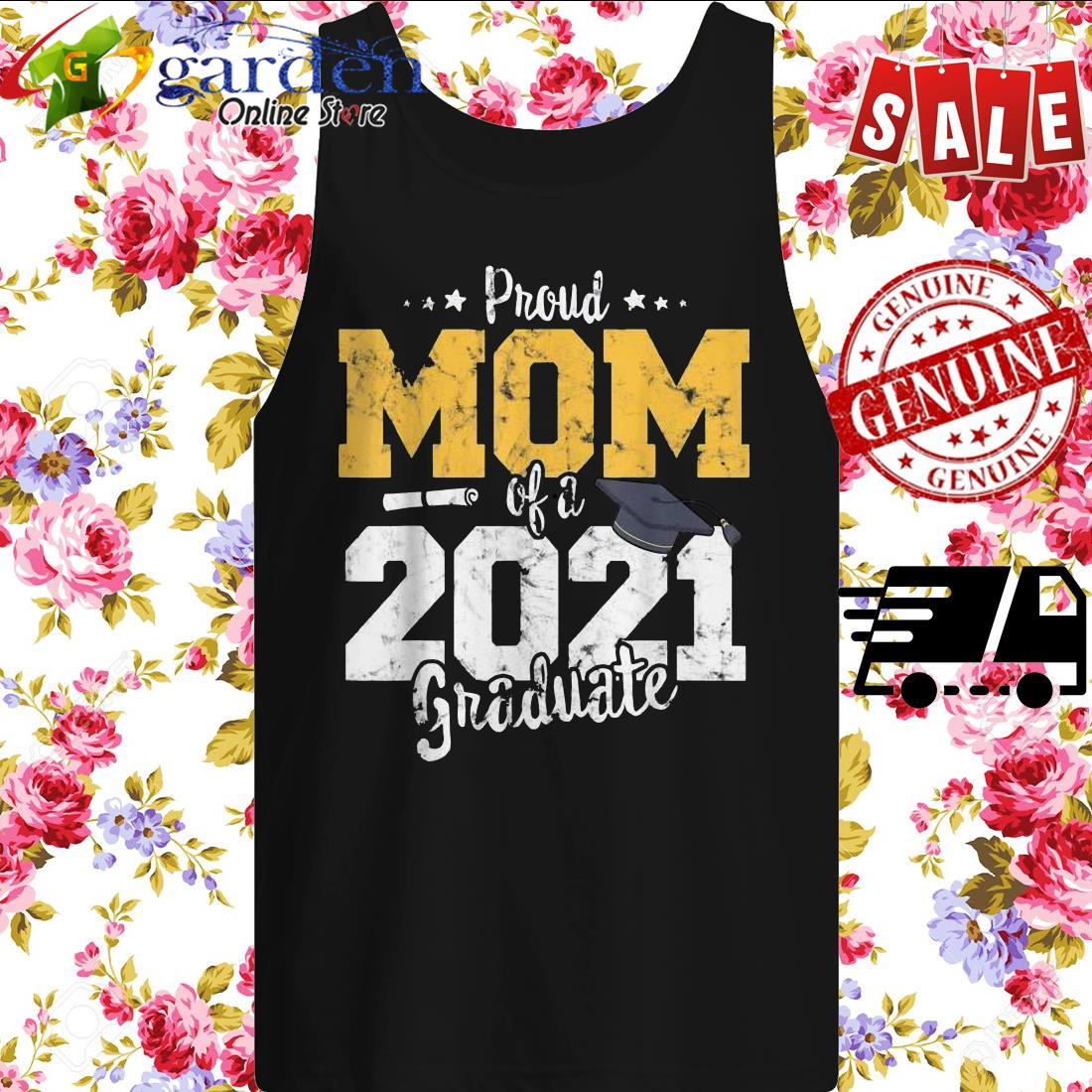 2021 Graduation mother Proud mom of 2021 graduate tank top