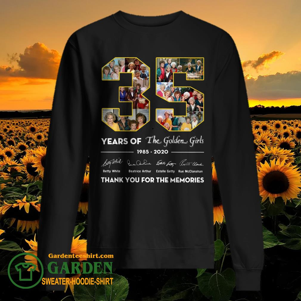 35 years of the golden girls 1985-2020 thank you for the memories sweater