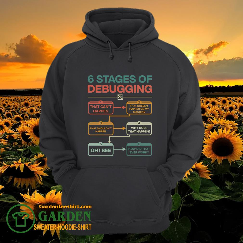 6 stages of debugging that can't happen hoodie