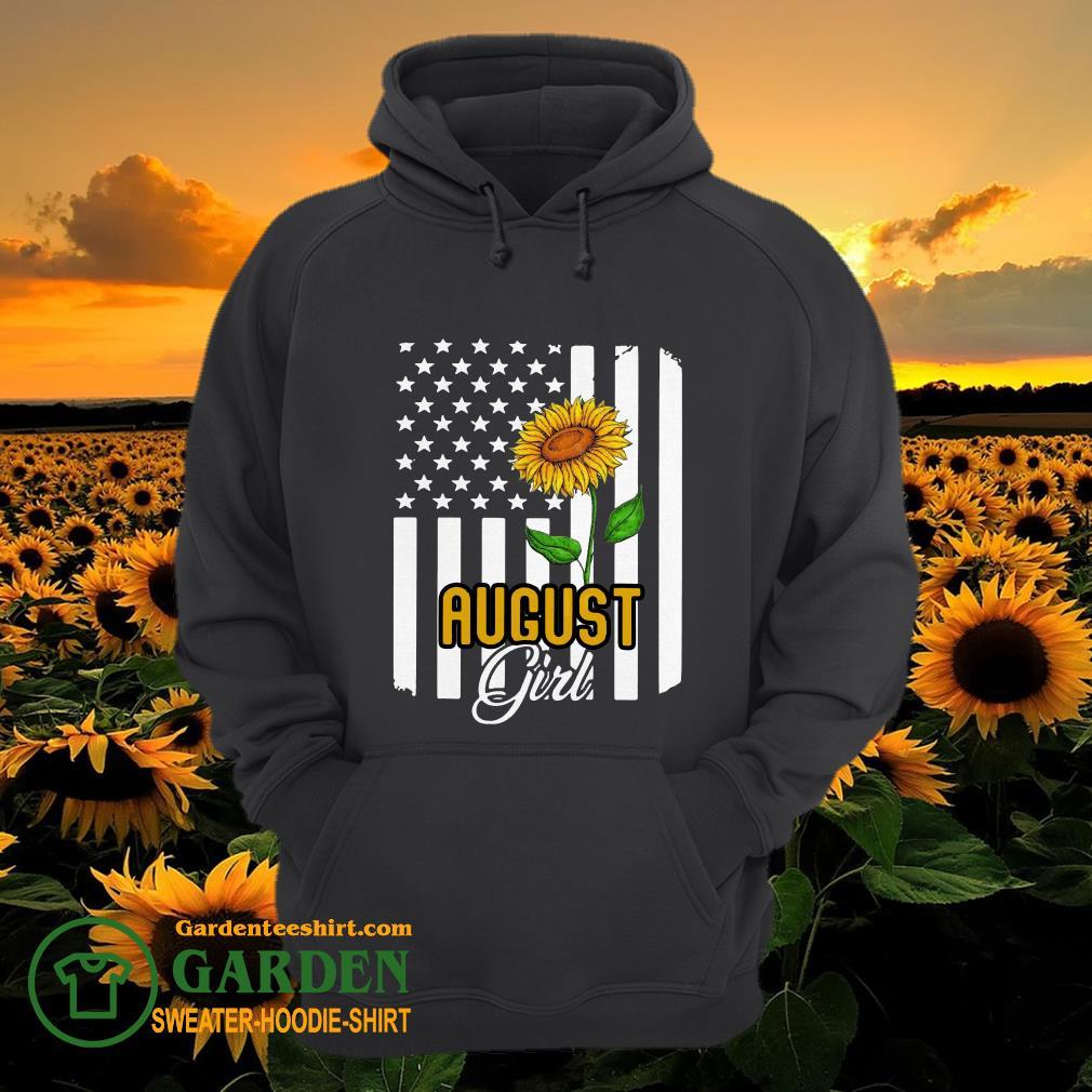 August girl sunflower hoodie