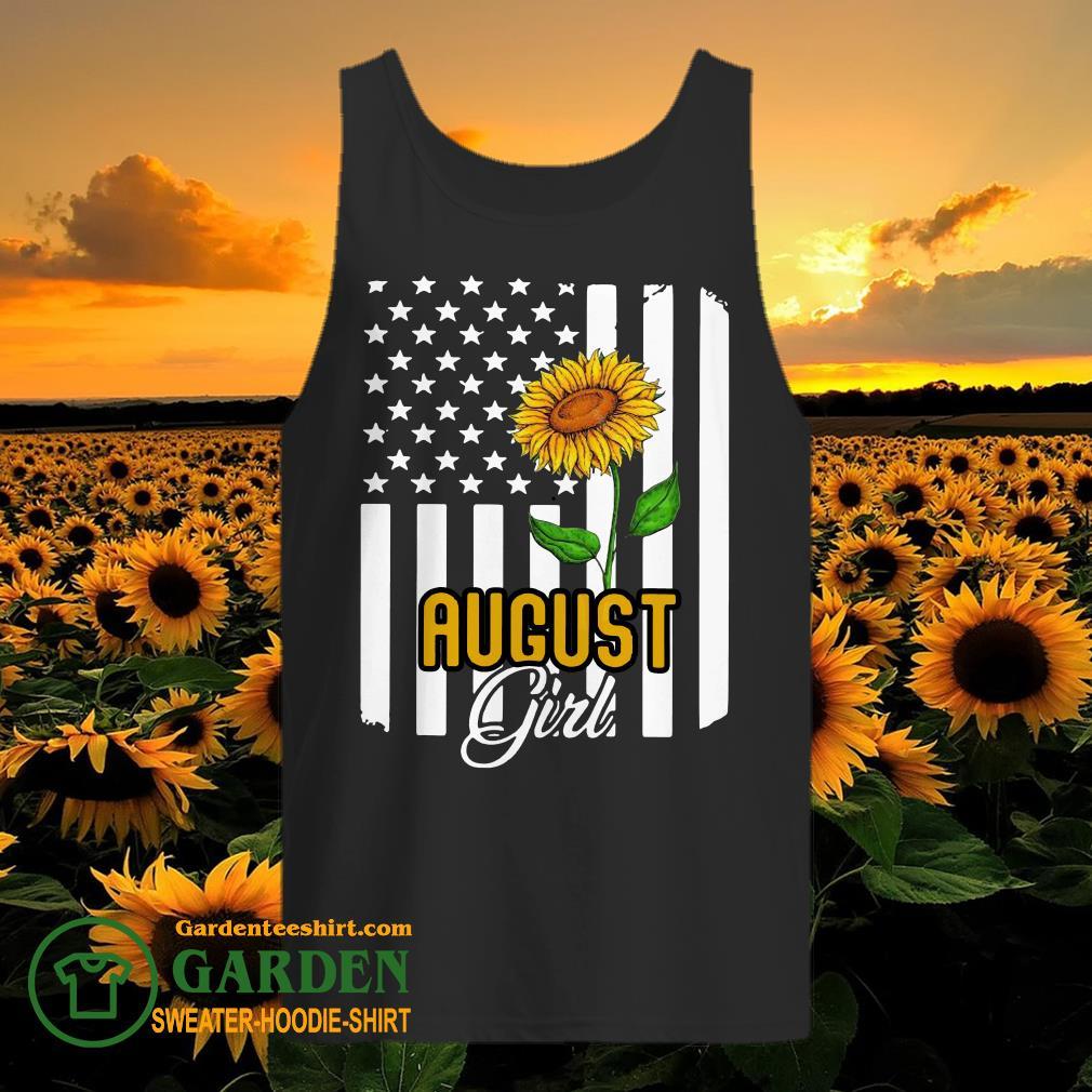 August girl sunflower tank top