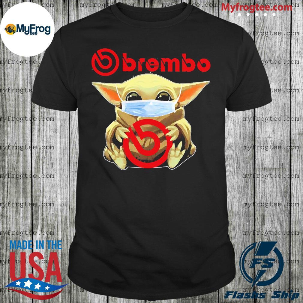 Baby Yoda face mask hug Brembo shirt