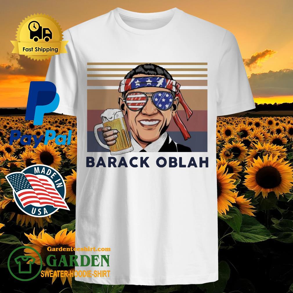 Barack Obama Drink Beer the 4th of July vintage shirt