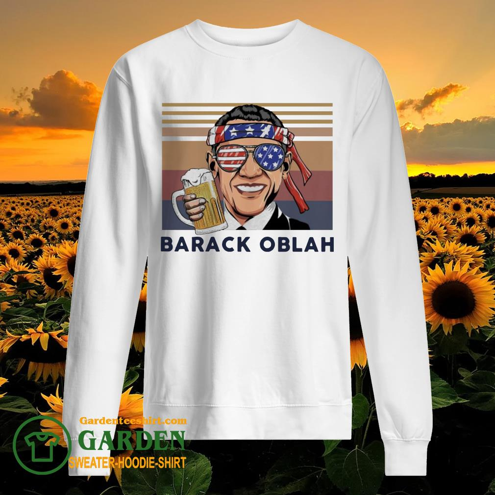 Barack Obama Drink Beer the 4th of July vintage sweater