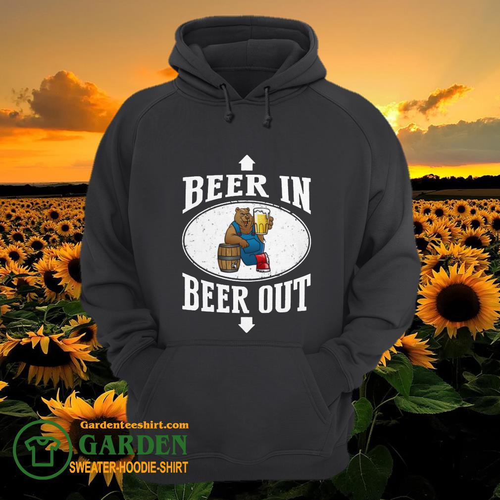 Bears beer in beer out hoodie