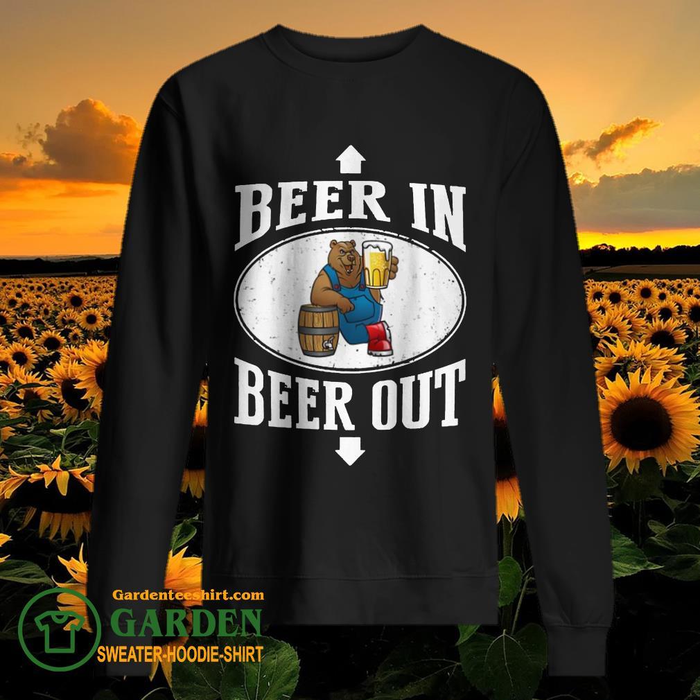 Bears beer in beer out sweater